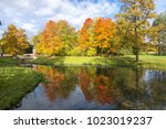 autumn foliage in catherine... | Shutterstock . vector #1023019237