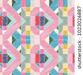 seamless pattern   decorative ... | Shutterstock .eps vector #1023026887