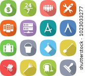 flat vector icon set   money... | Shutterstock .eps vector #1023033277
