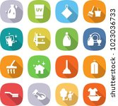 flat vector icon set   cleanser ... | Shutterstock .eps vector #1023036733