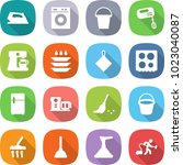 flat vector icon set   iron... | Shutterstock .eps vector #1023040087