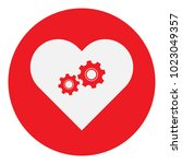 mechanical heart symbol. vector ...   Shutterstock .eps vector #1023049357