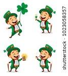 happy saint patrick's day.... | Shutterstock .eps vector #1023058357