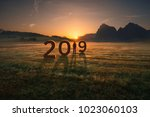 young woman standing and...   Shutterstock . vector #1023060103