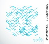 flowing rhythm  abstract wave... | Shutterstock .eps vector #1023069007