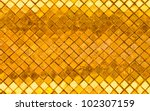 grunge tile gold wall texture for background - stock photo
