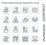 food processing industry and... | Shutterstock .eps vector #1023078517