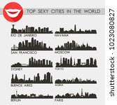 top sexy city in the world... | Shutterstock .eps vector #1023080827