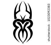 tattoo tribal vector design.... | Shutterstock .eps vector #1023092383