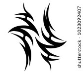 tattoo tribal vector design.... | Shutterstock .eps vector #1023092407