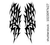 tattoo tribal vector designs.... | Shutterstock .eps vector #1023097627
