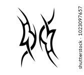tattoo tribal vector design.... | Shutterstock .eps vector #1023097657