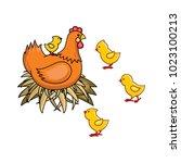 vector flat hand drawn brown...   Shutterstock .eps vector #1023100213
