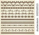 set  borders. decoration for... | Shutterstock .eps vector #102310513