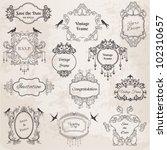 vintage frames and design...   Shutterstock .eps vector #102310657