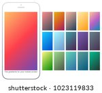 soft color gradient backgrounds ... | Shutterstock .eps vector #1023119833