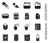 solid black vector icon set  ... | Shutterstock .eps vector #1023120907