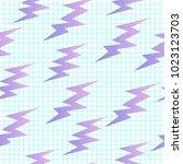 thunder seamless background | Shutterstock .eps vector #1023123703