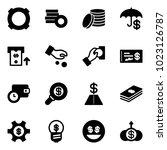 solid vector icon set  ...   Shutterstock .eps vector #1023126787
