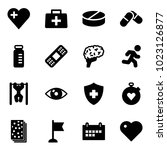 solid vector icon set   heart... | Shutterstock .eps vector #1023126877