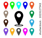 map pointer icon. set. gps...   Shutterstock .eps vector #1023127543