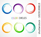 color circles set | Shutterstock .eps vector #1023130813