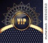 elegant vip invitation card... | Shutterstock . vector #1023132313