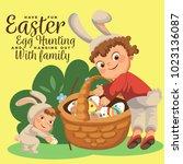 little boy smile hunting...   Shutterstock . vector #1023136087