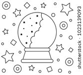 crystal ball. vector... | Shutterstock .eps vector #1023139093