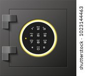 image of a steel safe. armored... | Shutterstock .eps vector #1023144463