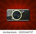 party headphones dj's music... | Shutterstock .eps vector #1023146737