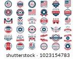 america vector label for banner ... | Shutterstock .eps vector #1023154783