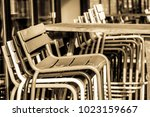old fashioned bar stools   Shutterstock . vector #1023159667