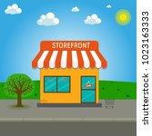 storefront vector illustration...   Shutterstock .eps vector #1023163333
