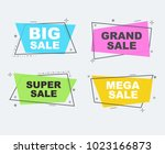 big sale collection flat linear ... | Shutterstock .eps vector #1023166873