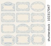 vintage labels set | Shutterstock . vector #102317047
