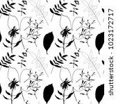 floral vector seamless pattern ...   Shutterstock .eps vector #1023172717