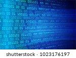 binary circuit board future... | Shutterstock .eps vector #1023176197