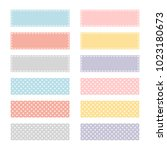 cute note papers  template for... | Shutterstock .eps vector #1023180673