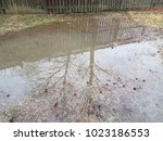 large water puddle or flood in...   Shutterstock . vector #1023186553