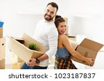 picture showing happy adult...   Shutterstock . vector #1023187837