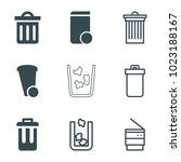 trashcan icons. set of 9... | Shutterstock .eps vector #1023188167