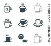 caffeine icons. set of 9...   Shutterstock .eps vector #1023188173