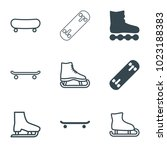 skating icons. set of 9... | Shutterstock .eps vector #1023188383