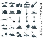 landscape icons. set of 25... | Shutterstock .eps vector #1023191653
