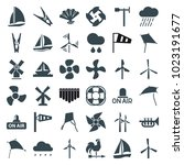 wind icons. set of 36 editable... | Shutterstock .eps vector #1023191677