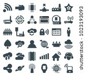 network icons. set of 36... | Shutterstock .eps vector #1023193093