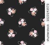 hand drawn seamless pattern... | Shutterstock .eps vector #1023193573