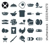 cooking icons. set of 25... | Shutterstock .eps vector #1023196573