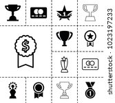 reward icons. set of 13... | Shutterstock .eps vector #1023197233